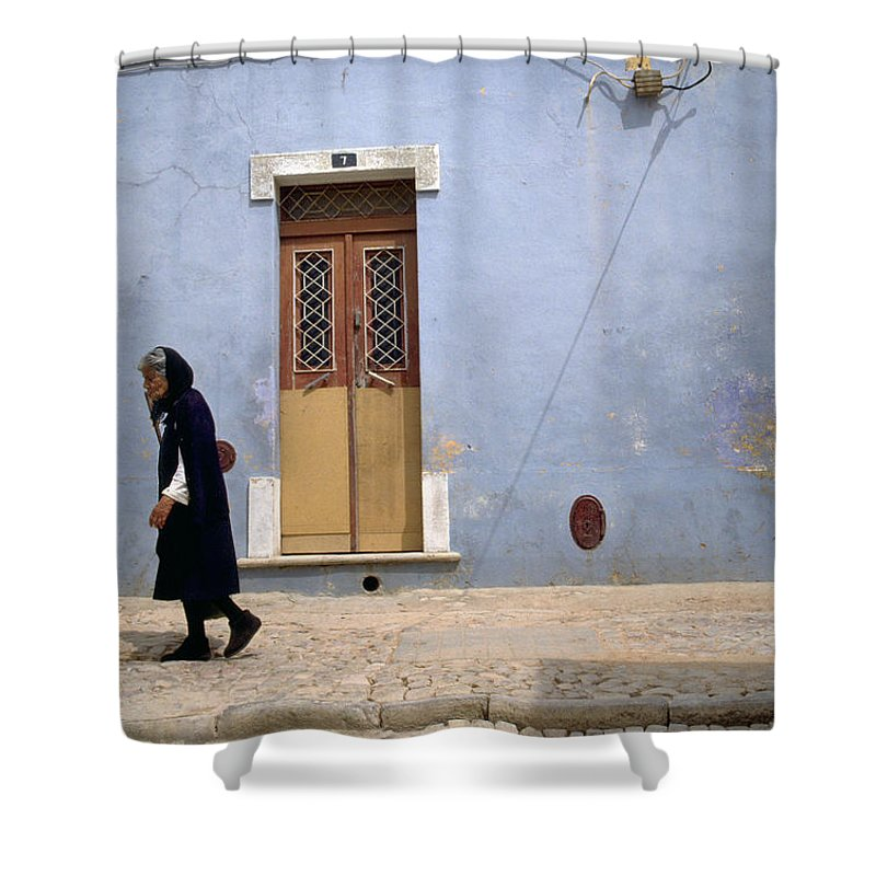 Algarve Shower Curtain featuring the photograph Algarve II by Flavia Westerwelle