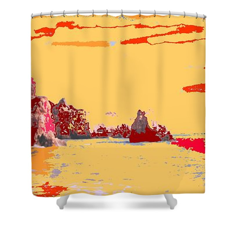 Mediterranean Shower Curtain featuring the photograph Algarve Sunrise by Ian MacDonald