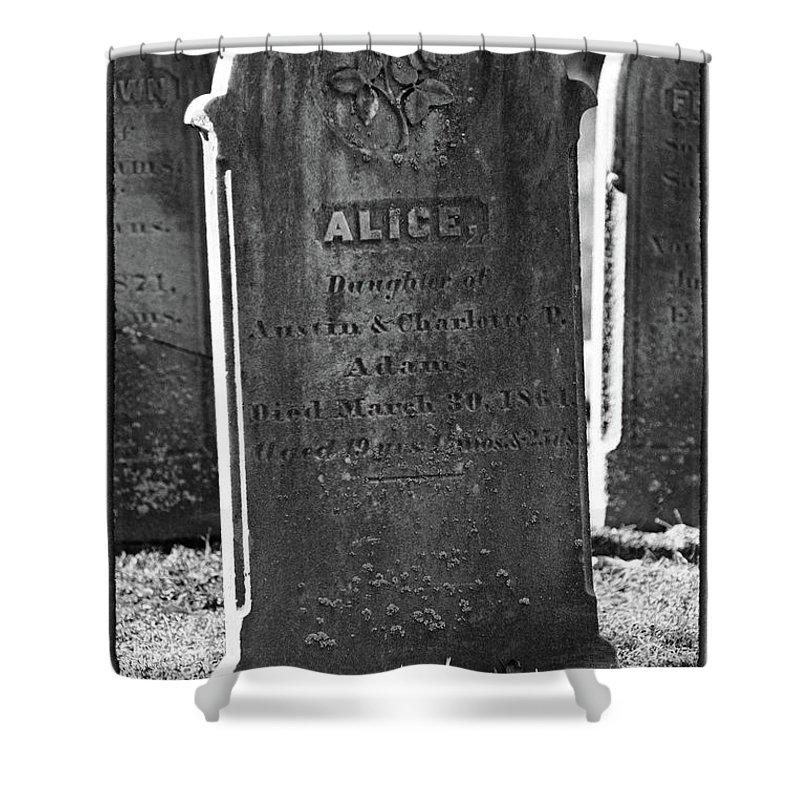 Religion Shower Curtain featuring the photograph Alice Adams by Mike Martin