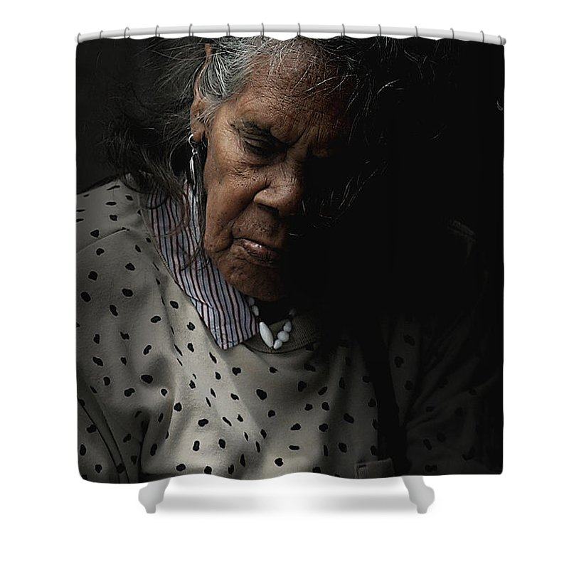 Portrait Shower Curtain featuring the photograph Alice by Sheila Smart Fine Art Photography