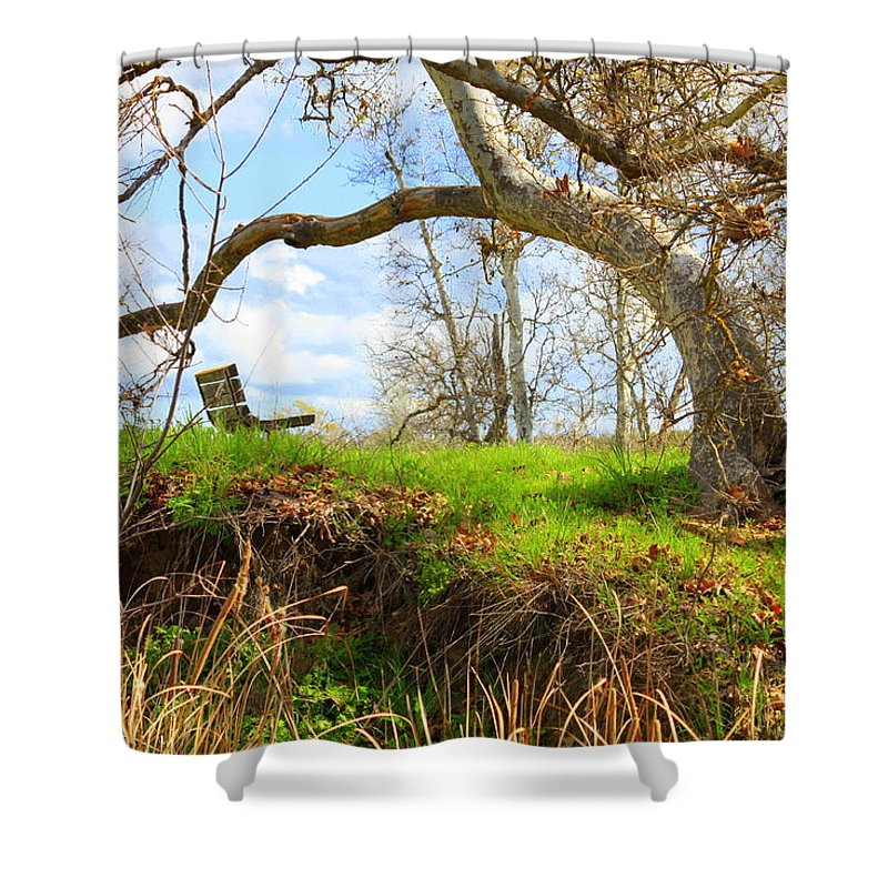 Spring Landscape Shower Curtain featuring the photograph Alice's Wonderland by Carol Groenen
