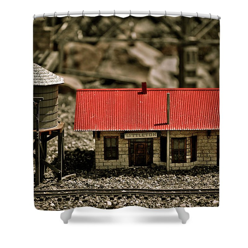 Train Shower Curtain featuring the photograph All Aboard by Marilyn Hunt