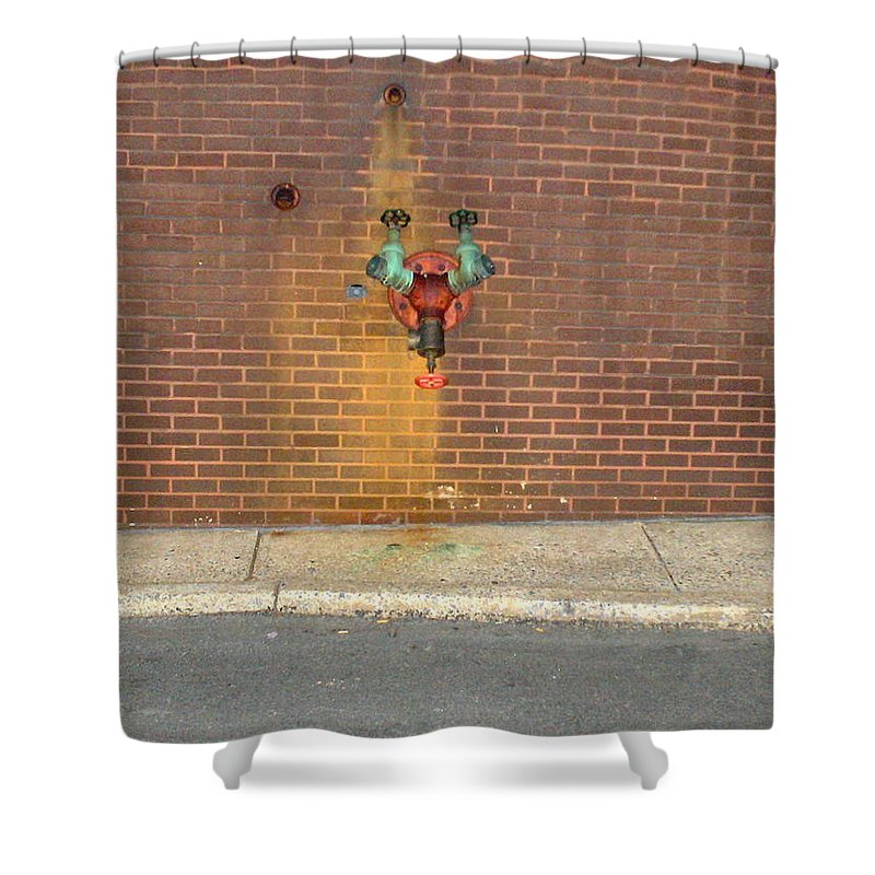 Photograph Shower Curtain featuring the photograph All Alone Pipe by Thomas Valentine