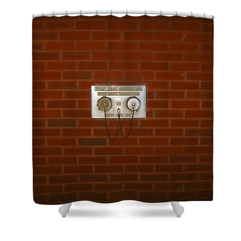 Photograph Shower Curtain featuring the photograph All Alone Pump Test by Thomas Valentine