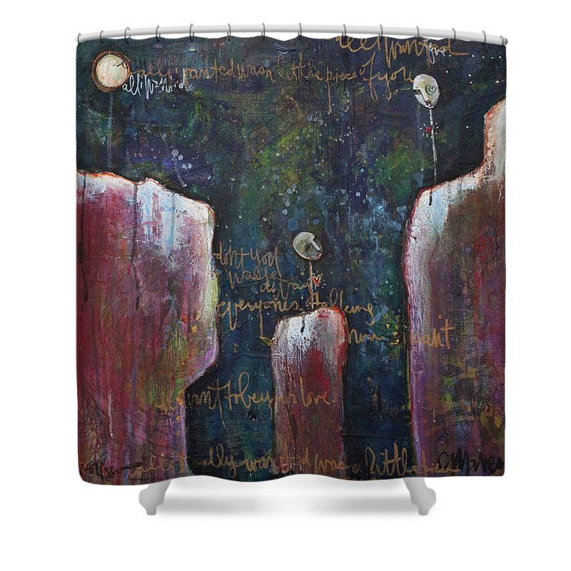 Lollipop Art Shower Curtain featuring the painting All I Wanted by Laurie Maves ART