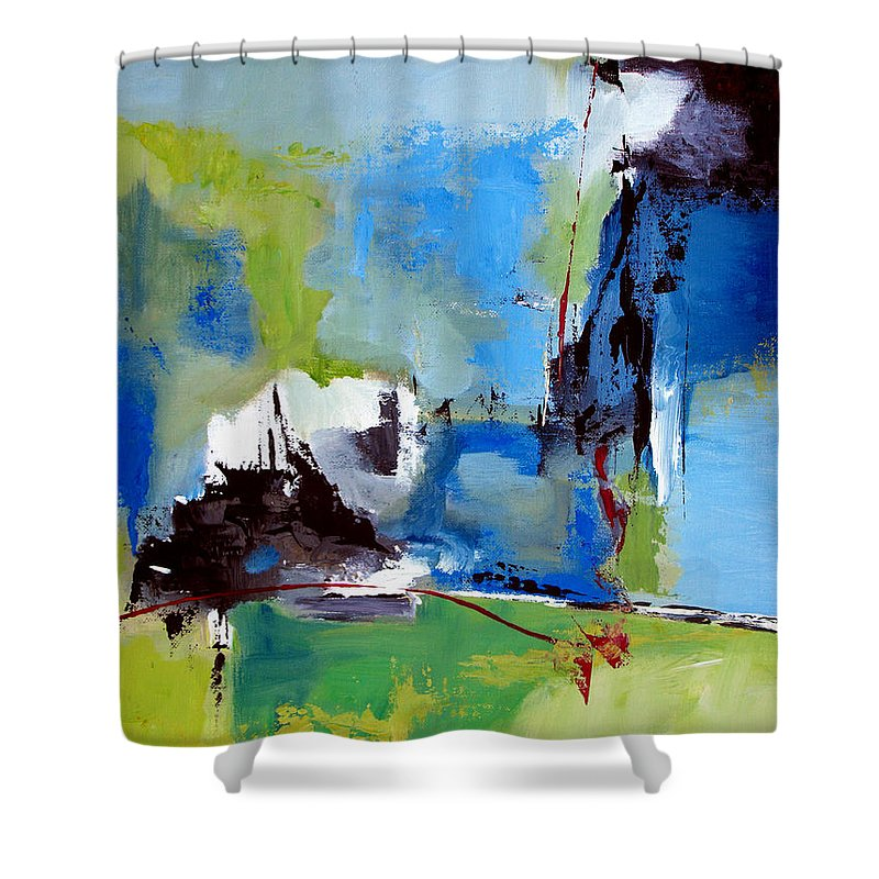 Abstract Shower Curtain featuring the painting All Is Not Lost by Ruth Palmer