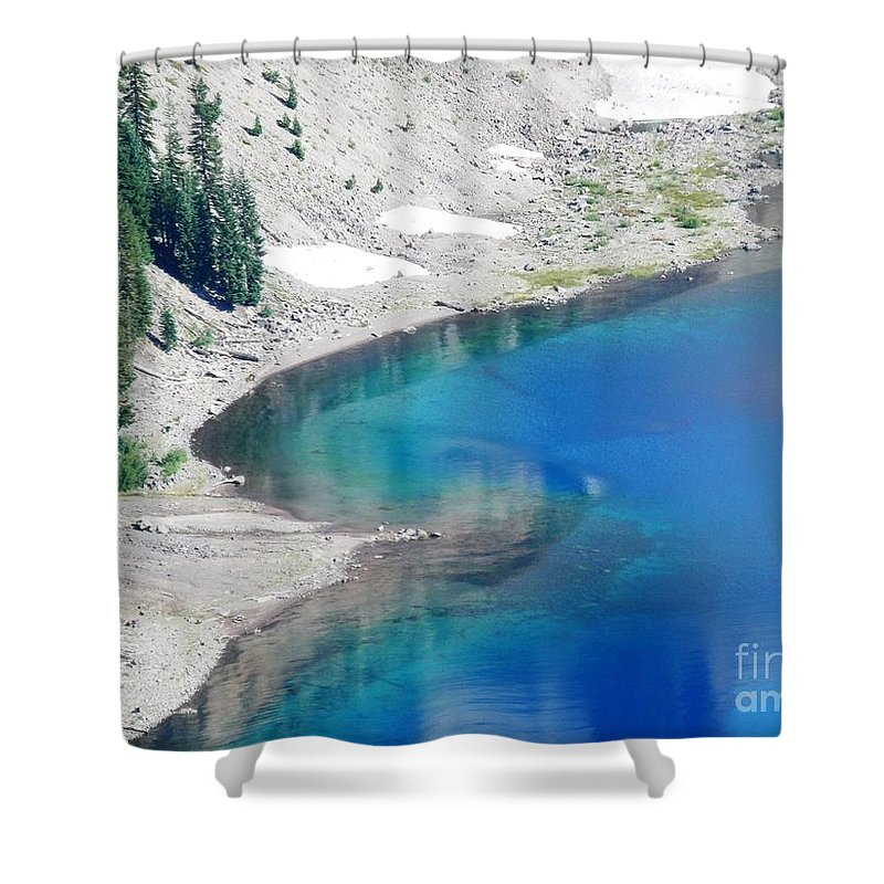 Crator Lake Oregon Shower Curtain featuring the photograph All This In The Usa by L Cecka