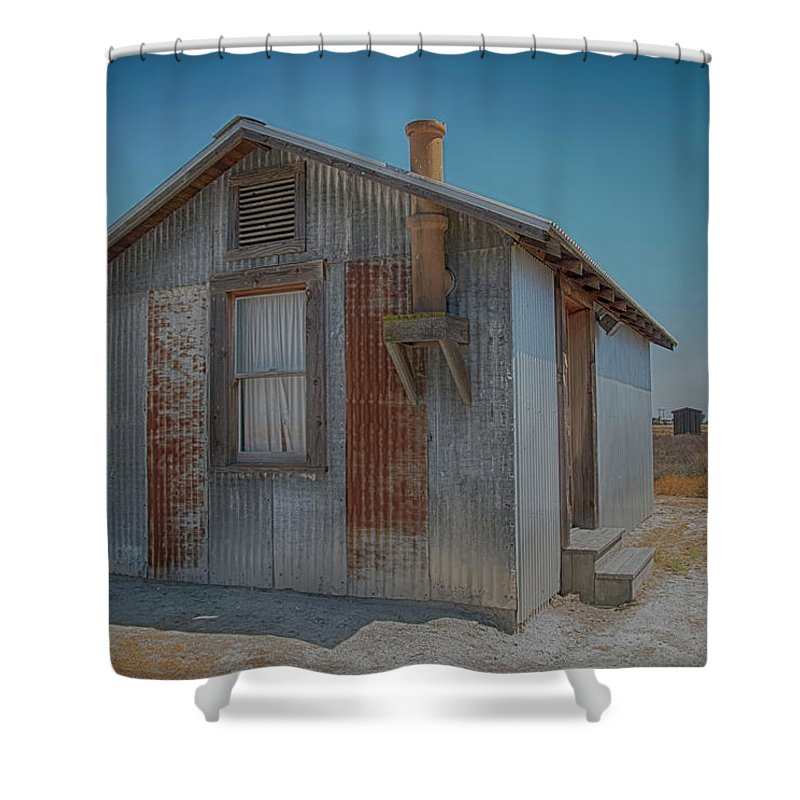 Allensworth Shower Curtain featuring the photograph Allensworth House by Jessica Levant