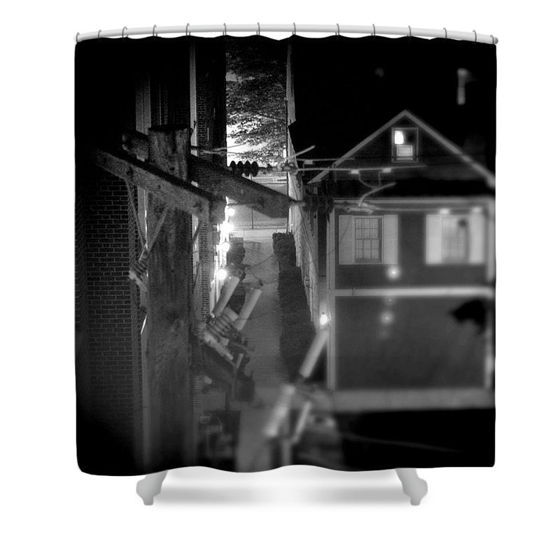 Alley Shower Curtain featuring the photograph Alley To High by Jean Macaluso