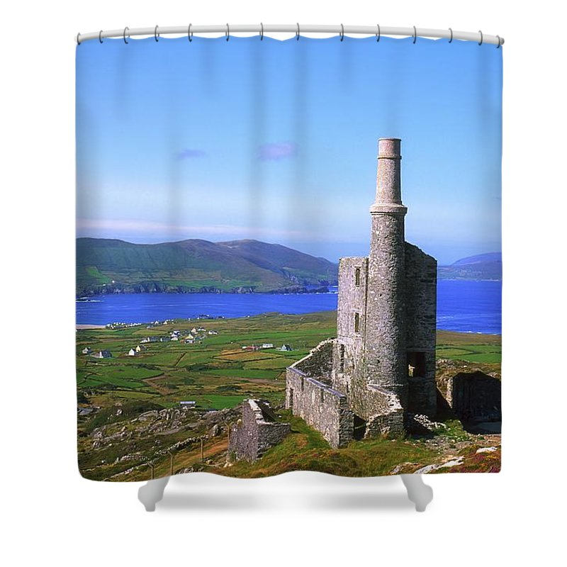 Agriculture Shower Curtain featuring the photograph Allihies, Co Cork, Ireland Old Mine by The Irish Image Collection