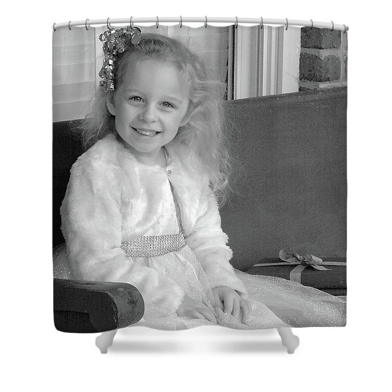 Girl Shower Curtain featuring the photograph Allison by Nadine Lewis