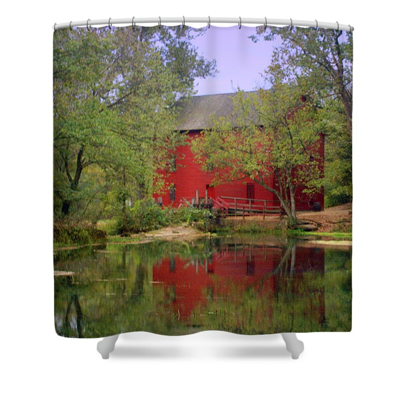 Alley Spring Shower Curtain featuring the photograph Allsy Sprng Mill 2 by Marty Koch