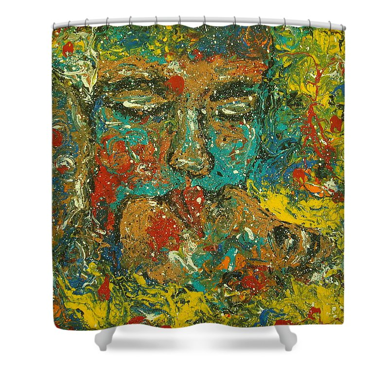 Romantic Shower Curtain featuring the painting Allure Of Love by Natalie Holland