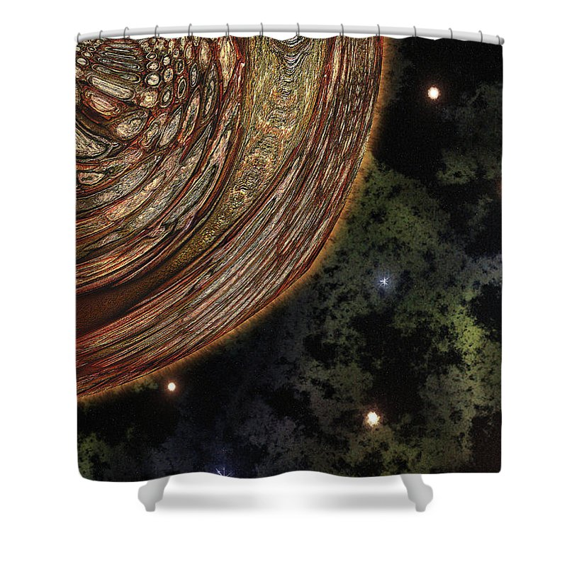 Celestial Shower Curtain featuring the digital art Almost Cosmos by Wendy J St Christopher