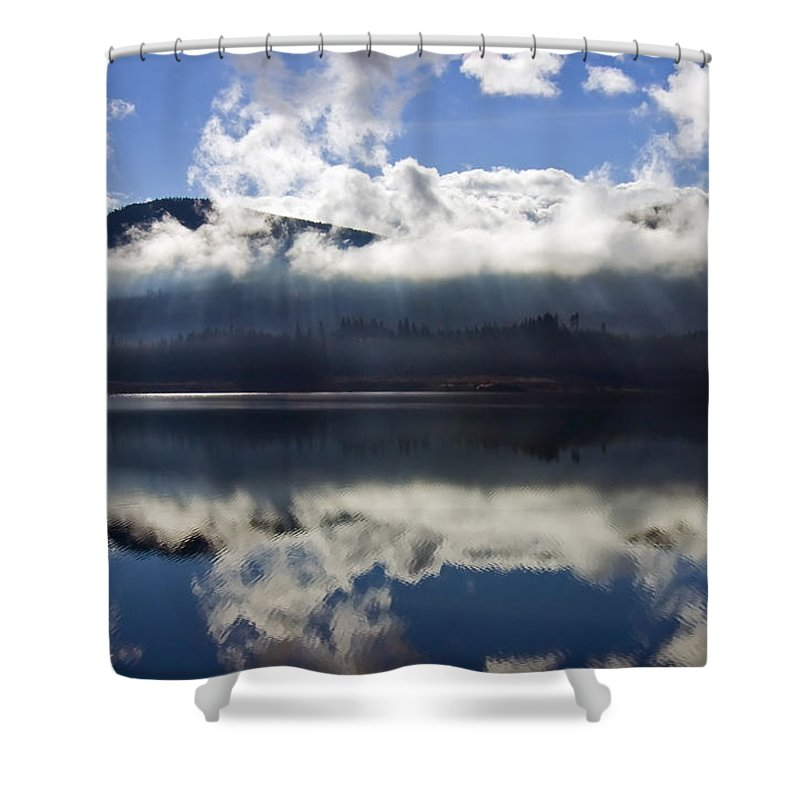Heavenly Light Shower Curtain featuring the photograph Almost Heaven by Mike Dawson