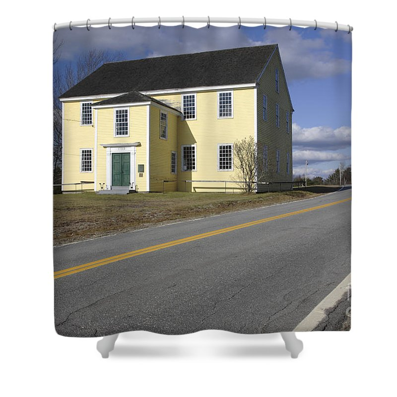 Buildings Shower Curtain featuring the photograph Alna Meetinghouse - Alna Maine Usa by Erin Paul Donovan