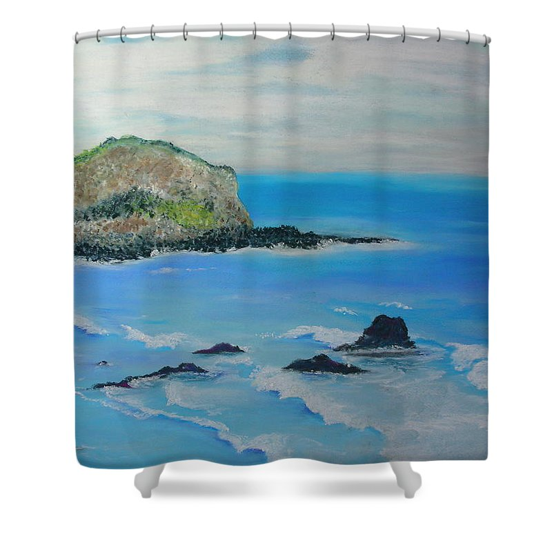Hawaii Shower Curtain featuring the painting Aloha by Melinda Etzold