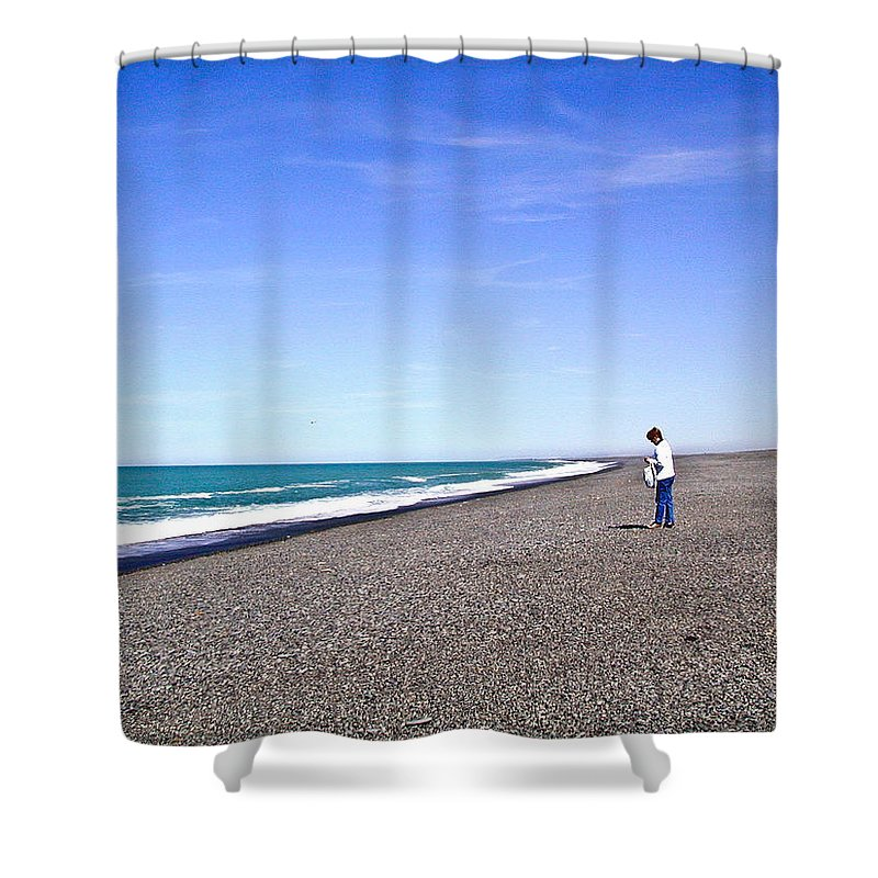 Alone Shower Curtain featuring the photograph Alone And At Peace by Douglas Barnett