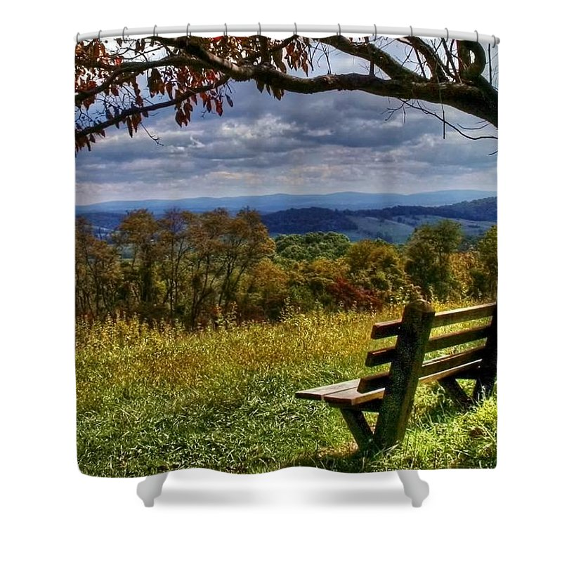 Nature Shower Curtain featuring the photograph Alone by Mitch Cat