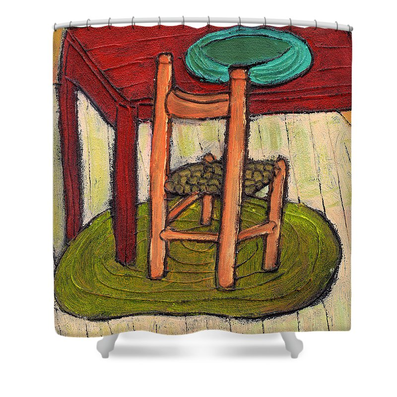 Kitchen Shower Curtain featuring the painting Alone by Wayne Potrafka