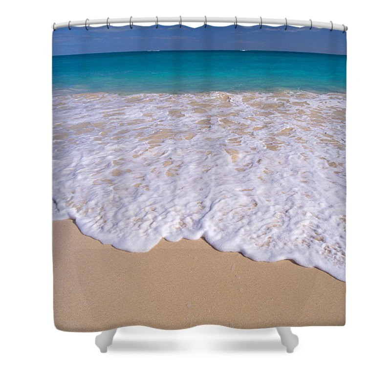 Afternoon Shower Curtain featuring the photograph Along Shoreline by Mary Van de Ven - Printscapes