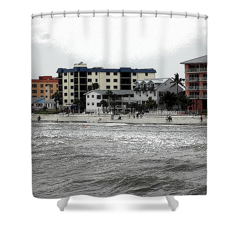 Beach Shower Curtain featuring the photograph Along The Beach by Kathleen Struckle