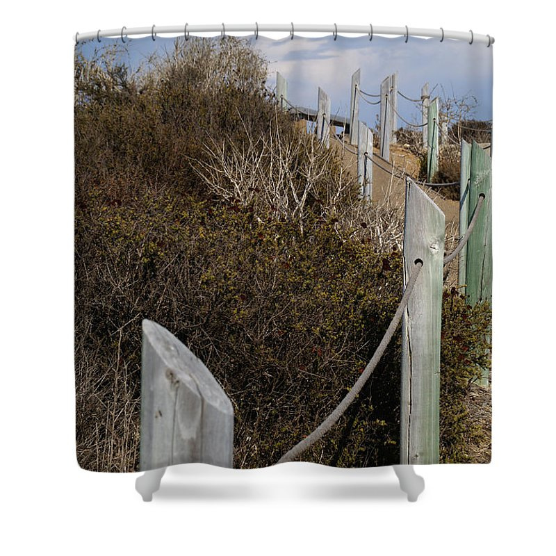 Point Loma Shower Curtain featuring the photograph Along The Pathway by Linda Shafer