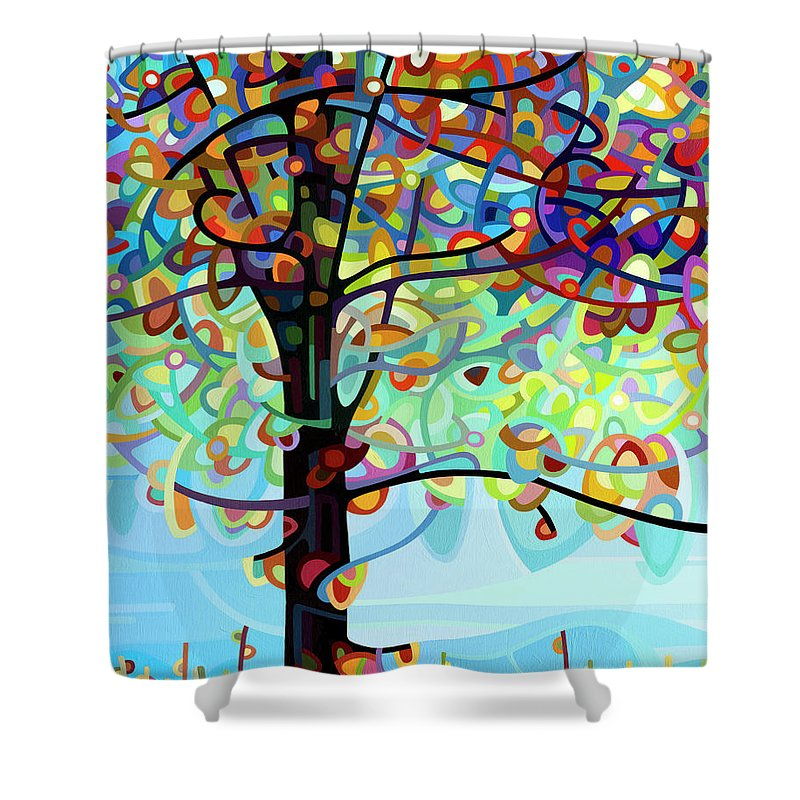 Along The River Shower Curtain For Sale By Mandy Budan