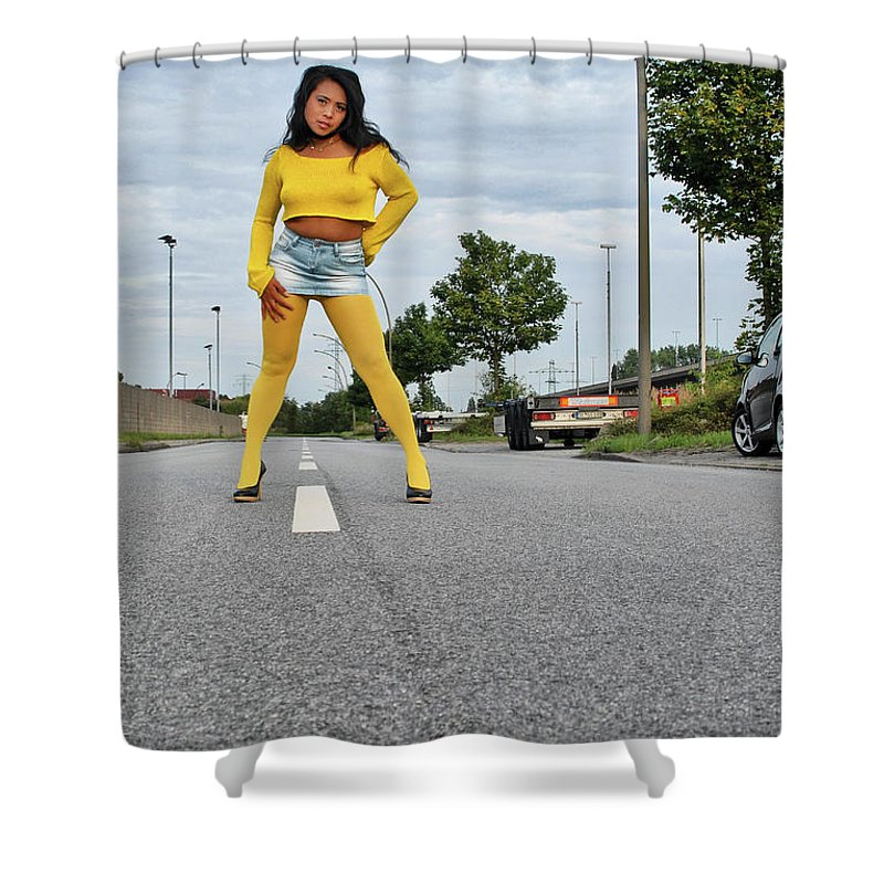 Asian Shower Curtain featuring the photograph Along The Road by Ralf Kretschmer