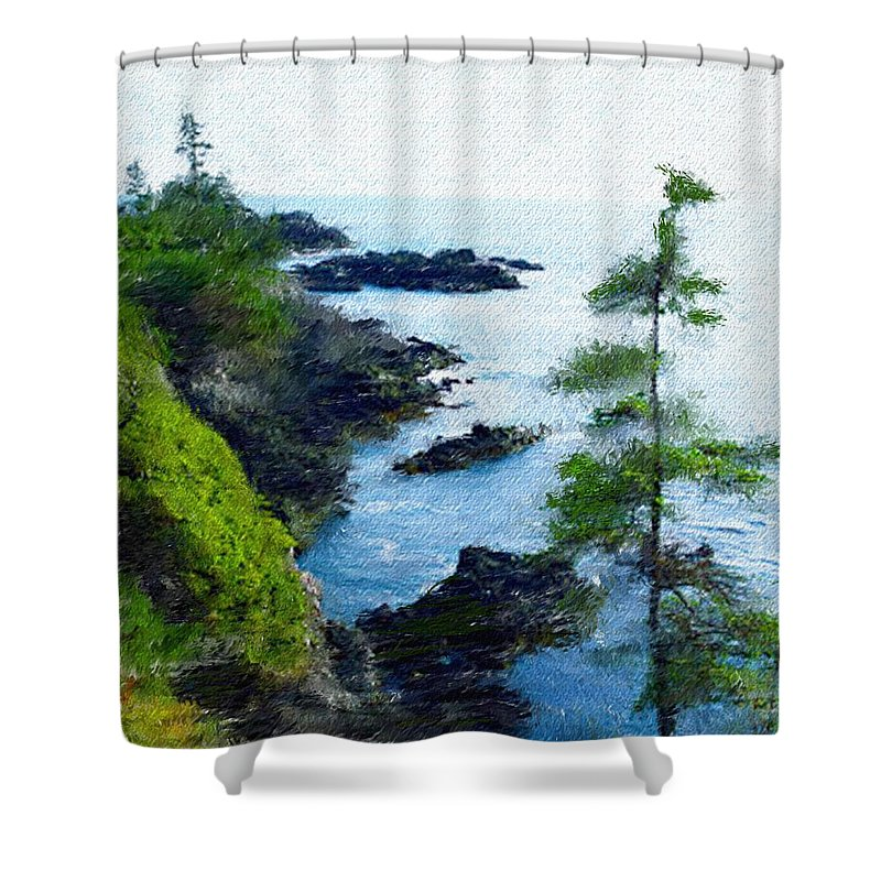 Digital Photograph Shower Curtain featuring the photograph Along The West Coast 1 by David Lane