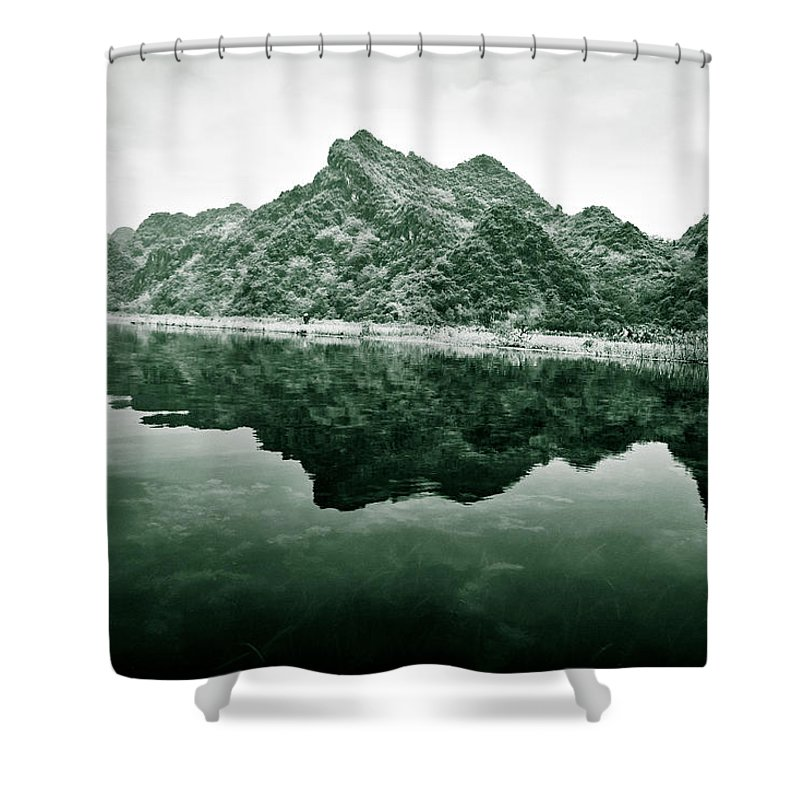 Yen Shower Curtain featuring the photograph Along The Yen River by Dave Bowman
