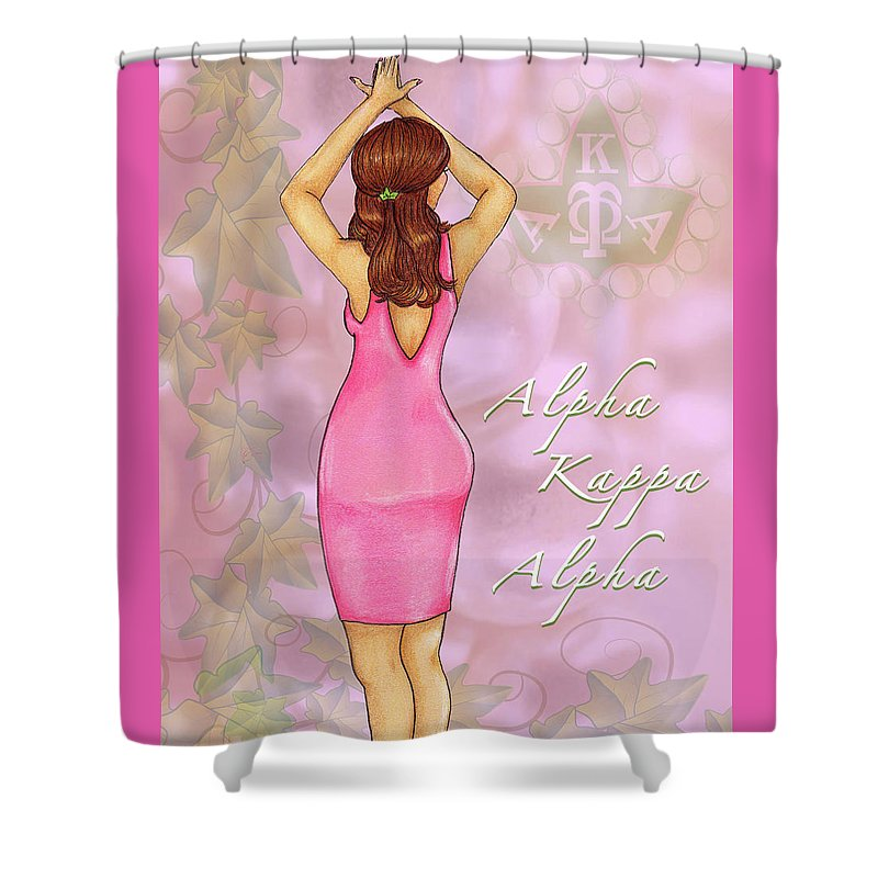 Alpha Kappa Alpha - Pink Essence Shower Curtain for Sale by BFly Designs