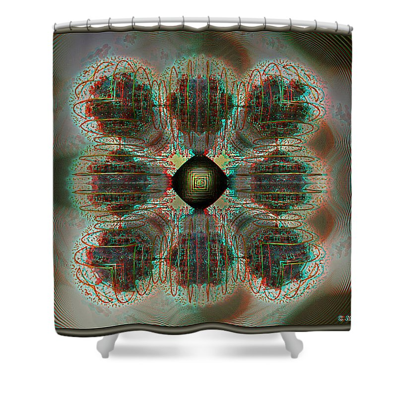 3d Shower Curtain featuring the photograph Alpha Waves - View With Red-cyan 3d Glasses by Brian Wallace