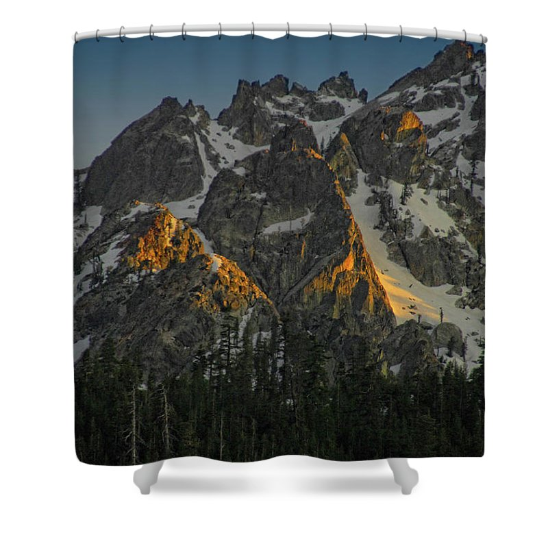 Mountan Shower Curtain featuring the photograph Alpine Glow by Donna Blackhall