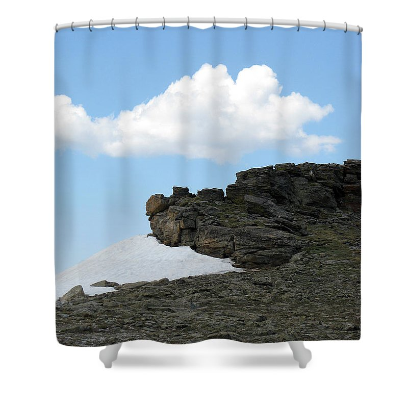 Rocky Mountains Shower Curtain featuring the photograph Alpine Tundra - Up In The Clouds by Amanda Barcon
