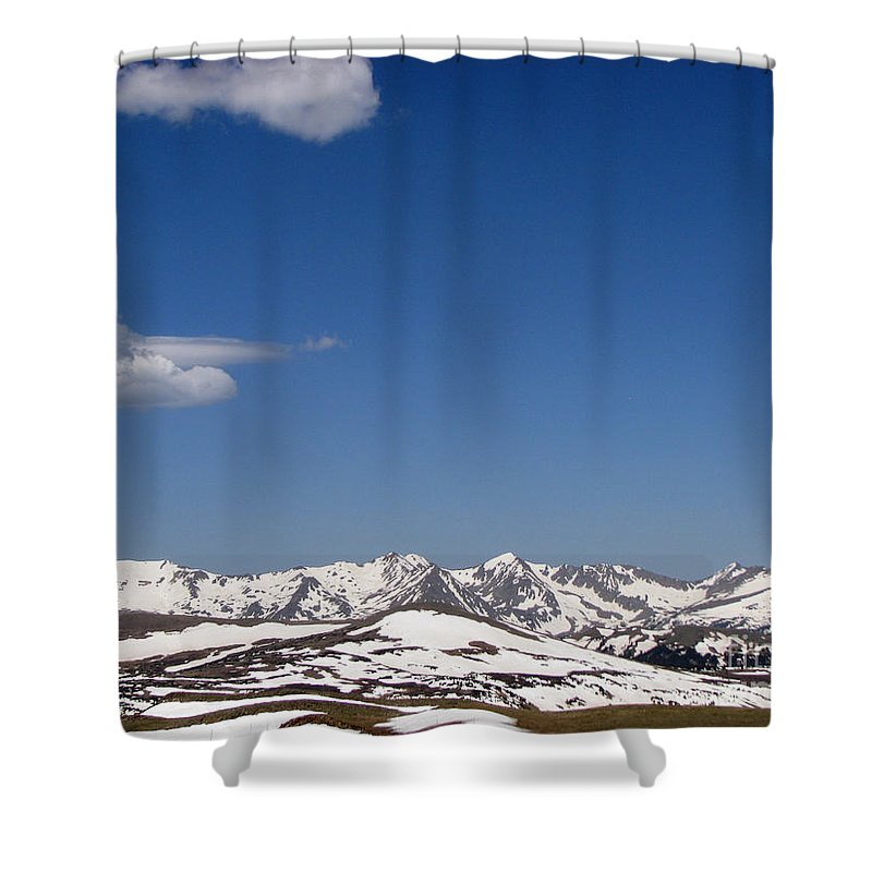Mountains Shower Curtain featuring the photograph Alpine Tundra Series by Amanda Barcon