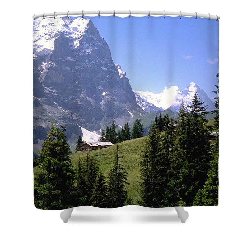 Alps Shower Curtain featuring the photograph Alps by Flavia Westerwelle