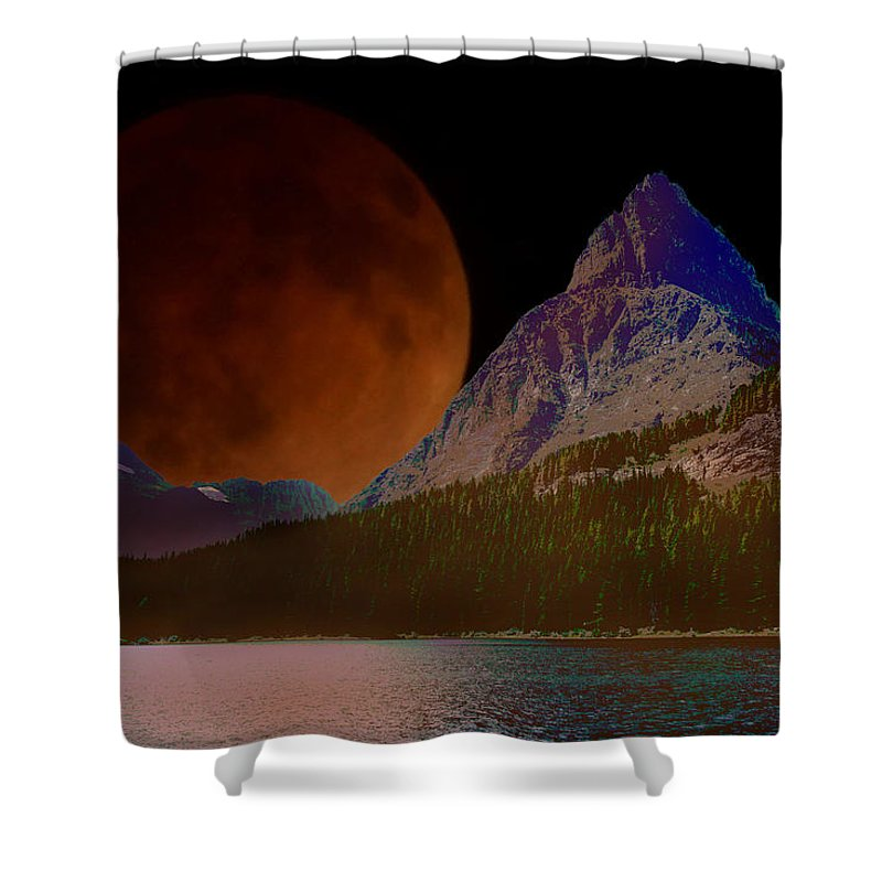Photo Art Shower Curtain featuring the photograph Alternate Universe Glacier Park by Mick Anderson