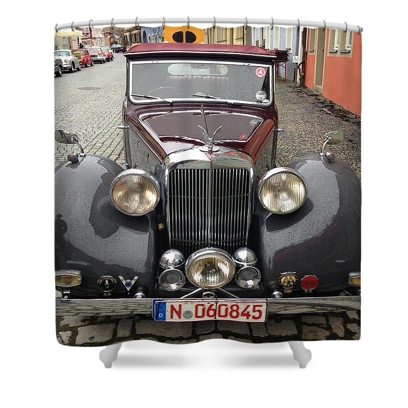Alvis Shower Curtain featuring the photograph Alvis by Jackie Russo