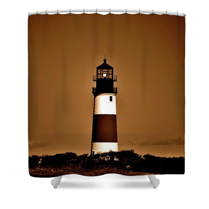 Lighthouse Shower Curtain featuring the photograph Always A Light by Lori Tambakis