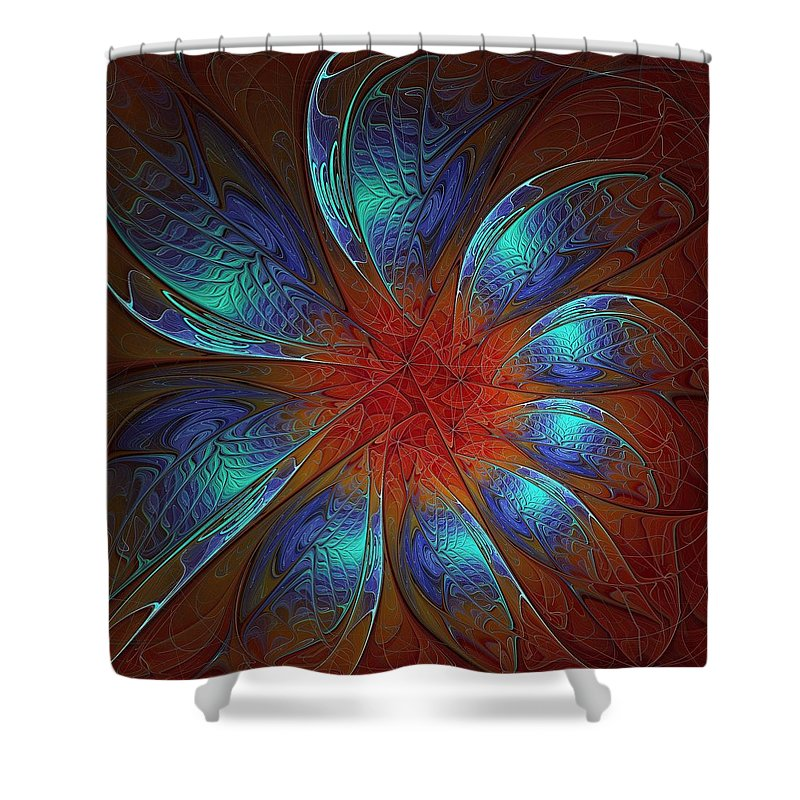 Digital Art Shower Curtain featuring the digital art Always and Forever by Amanda Moore