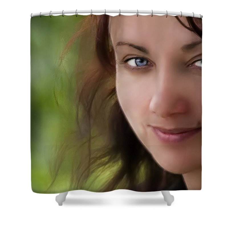 Blue Shower Curtain featuring the photograph Always On My Mind by Evelina Kremsdorf