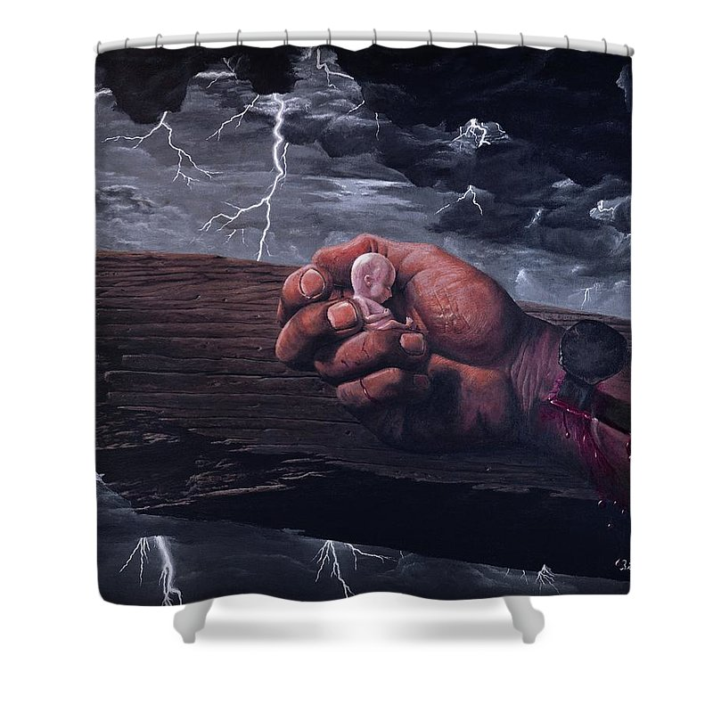 Spiritual Shower Curtain featuring the painting Amazing Grace by Bill Stephens