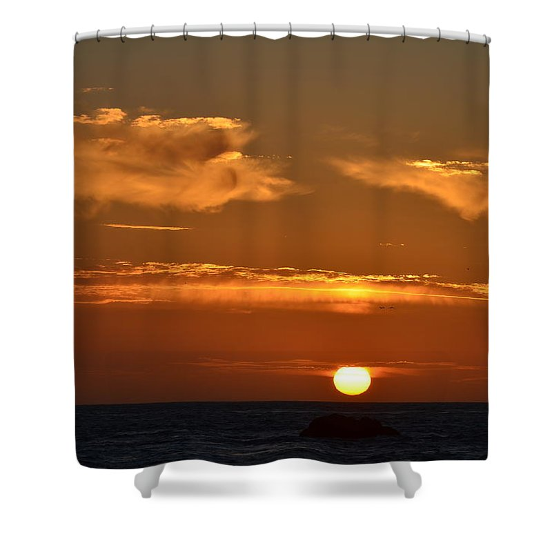 Sunsets Shower Curtain featuring the photograph Amazing Sunset 251 by Remegio Dalisay