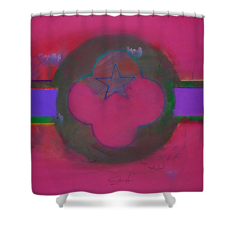 Star Shower Curtain featuring the painting American Cats And Poppies by Charles Stuart