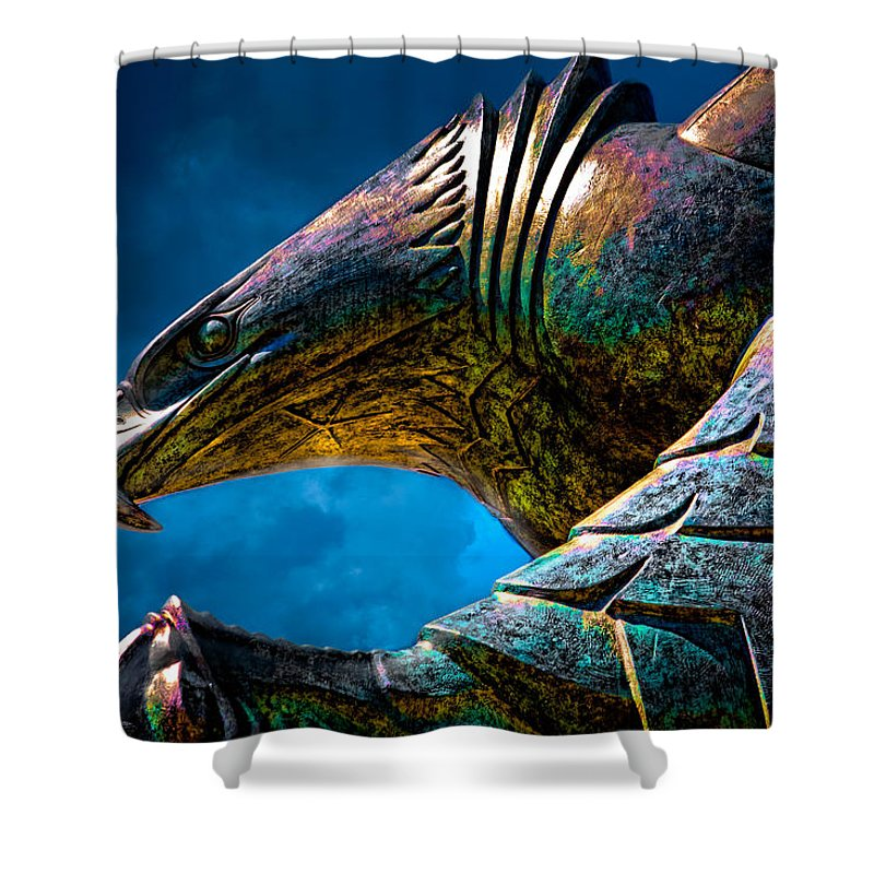 Icon Shower Curtain featuring the photograph American Eagle by Chris Lord