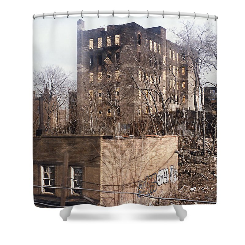 Bronx Shower Curtain Featuring The Photograph American Ghetto