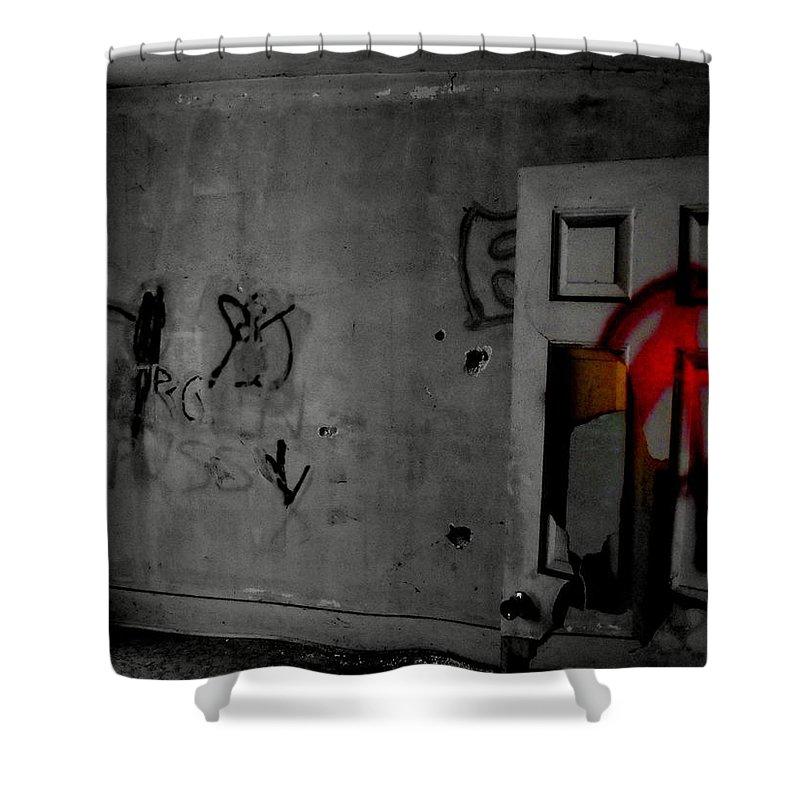American Graffiti 6 Shower Curtain featuring the photograph American Graffiti 6 - Virgin Sacrifice by Ed Smith