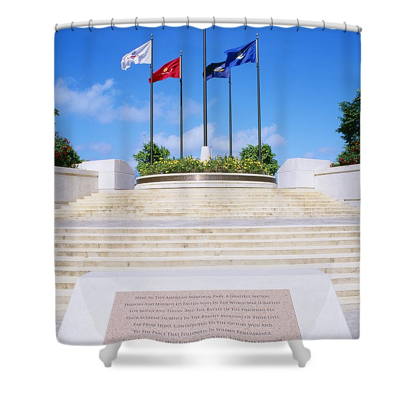 American Shower Curtain featuring the photograph American Memorial Park by Greg Vaughn - Printscapes