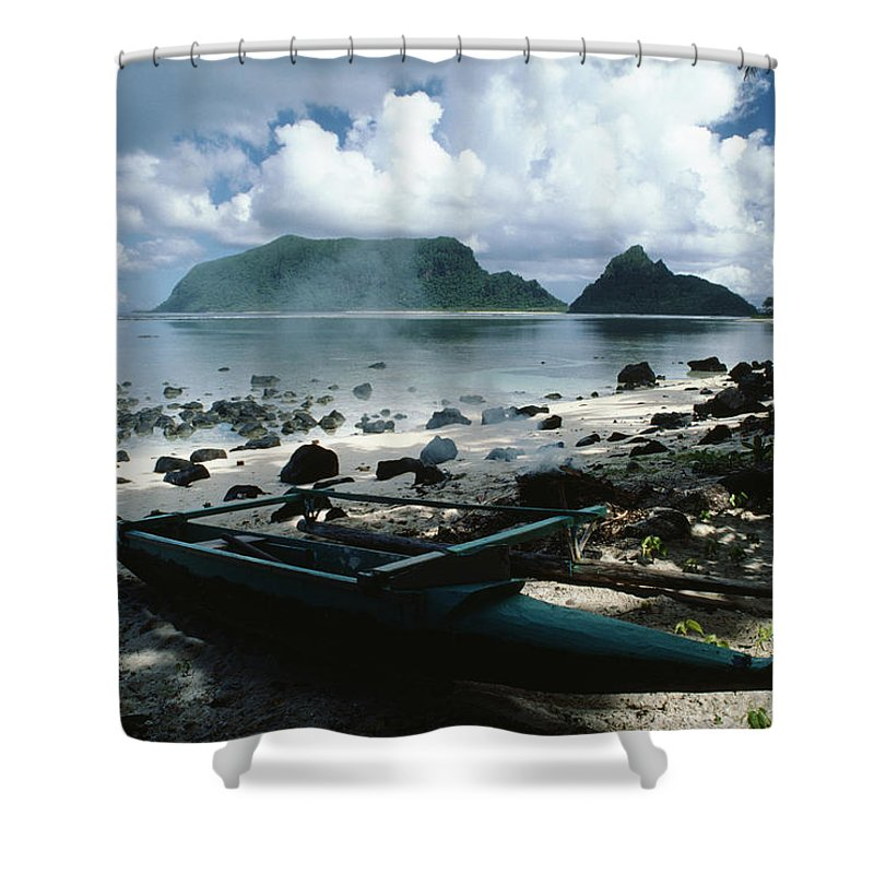American Shower Curtain featuring the photograph American Samoa by Bob Abraham - Printscapes
